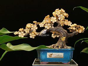 Cây hoa mai dát vàng 24k- quà tặng doanh nghiệp dịp tết được ưa chuộng nhất xuân Nhâm Dần