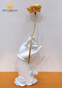 Phật thủ liên hoa dát vàng 24k