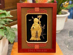 Tranh ông thọ dát vàng 24k - Món quà tặng mừng thọ siêu ý nghĩa