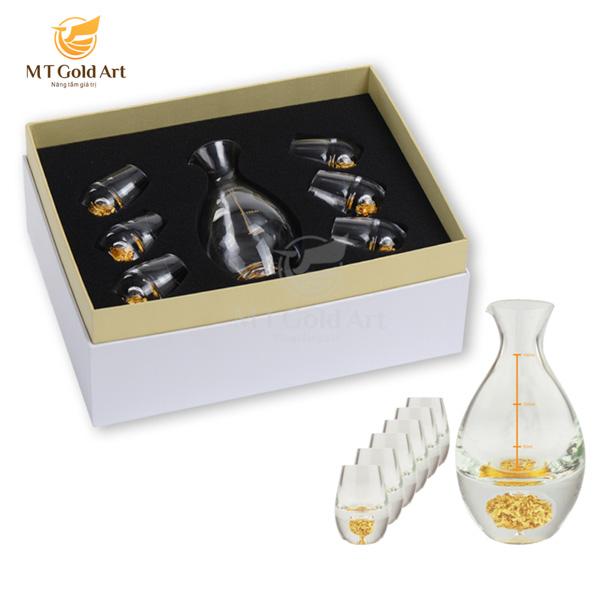 Bộ bình ly cao cấp đúc vàng lá 24k