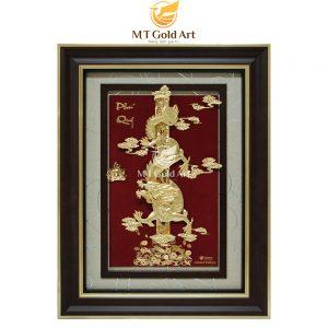 Tranh Rồng Phú quý dát vàng lá 24k