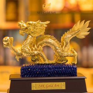 Tượng rồng vàng 24k